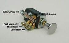 Headlight Dimmer Switch 4 Position with Chrome Knob Traditional Hot Rod rat