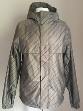 BURTON POACHER JACKET STRIPED ARMY GREEN DRY RIDE SNOWBOARD SIZE XS POLYESTER