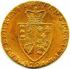 1794 KING GEORGE III 3RD FULL 22CT GOLD GUINEA COIN BRITISH MILLED ANTIQUE 8.3g