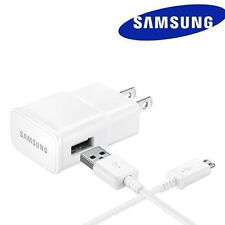 New OEM Samsung Galaxy S2 S3 S4 N5 S6 S7 Wall Charger + 4F Micro USB Cable White