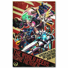 Overwatch Blizzard Hot Game Silk Fabric Poster Print Home Brand New 13x20inch