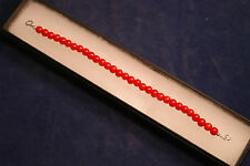 """Beautiful Bracelet With Red Agate 7"""".5 In Long With Silver Clasps In Gift Box"""