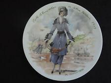 D'ARCEAU LIMOGES LES FEMMES DU SIECLE  COLLECTOR PLATE - Edith 1915