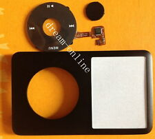 Black front cover+ Clickwheel Central Button for iPod Classic 80GB 120GB 160GB