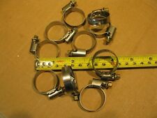 """10 Norma W2 Torro Stainless 16-28mm 5/8"""" –1 3/16"""" Embossed Hose Clamps Germany"""
