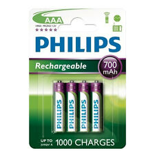 4 St Philips Multilife Batterie AAA Micro 700 mAh NiMH per GIGASET C38H