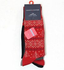 TOMMY HILFIGER 4 PACK SOCKS HOLIDAY COMBED COTTON SHOE 7-12 NWT FESTIVE COLORS