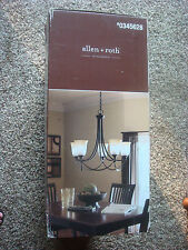 allen + roth 5-Light Chandelier Oil-Rubbed Bronze Finish LWS0333C *NEW*