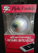 Portable MINI Bomb Speaker HYPE Pink Cookie HY-527-WNK Rechargeable Key Chain