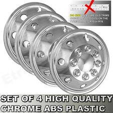 "16"" Iveco Daily Chrome Wheel Trims Van American Style Hub Caps x4 NOT TWIN WHEEL"
