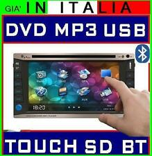 AUTORADIO TOUCHSCREEN DVD MP3 USB SDCARD 2DIN COMANDI VOLANTE VIVAVOCE BLUETOOTH