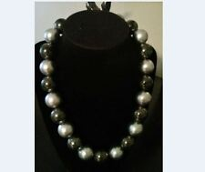 Womens Fashion Jewelry Necklace White and Black Chunky
