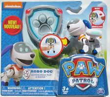 Nickelodeon Paw Patrol Robo Dog Action Pack Pup & Badge - Hard To Find