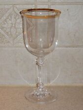 """MIKASA GLASS GOTHIC GOLD WATER GOBLET 7 5/8"""" EXCELLENT!"""