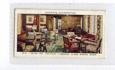 (Jx237-100)Ogdens,Ocean Greyhounds,M.V Reina Del Pacifico Smoke Room ,1938#35