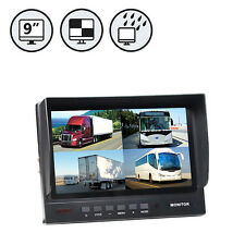 "9"" TFT LCD DIGITAL QUAD VIEW WATERPROOF COLOR MONITOR RVS-699Q"