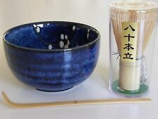 Japanese UME Blossom Matcha Cup Bowl Bamboo Scoop 80 Whisk Tea Ceremony Gift Set