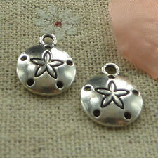 free ship 260 pieces tibetan silver sand dollar charms 15x12mm #2794