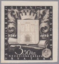 Kroatien 1943 Mi.Nr. 97 ungezähnte Farbprobe in schwarzbraun