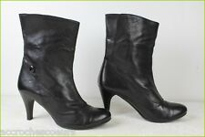 Boots Booties MINELLI Black Leather T 40 TOP CONDITION