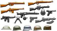 BRICKARMS WWII Pack 2016 for Lego Minifigures Limited Edition Weapons Helmets
