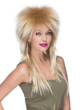 High Quality Extra Long Rocker Retro 80's Spiked Mixed Blonde Adult Costume Wig