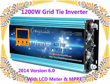 "1200W Grid Tie Inverter 52-88VDC/220VAC With 3.5""LCD Meter & MPPT For SolarPanel"