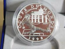 WORLD CUP FRANCE 98 Monnaie De Paris Silver 10F Coin In Box & C.O.A. 4606/40,000