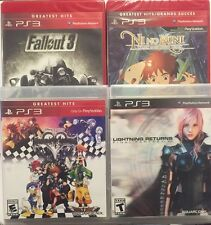 Lot of 4 Great RPG PS3 Games - LOOK! Kingdom Hearts,Final Fantasy,Fallout 3,Kuni