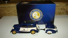 Franklin Mint Police Patrol 1933 Ford Tudor w.Trailer, boxes and COA