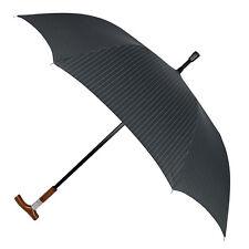 Leighton Distinctive BLK With White Pin-Stripes Gentleman's Hidden Cane Umbrella