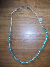 """24"""" Turquoise & Shell Bead Necklace Tribal or Southwest Look NWT"""