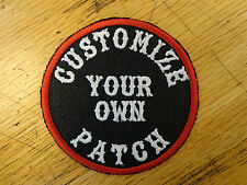 """Custom Embroidery 3"""" Round Patch Biker Embroidered Funny Sayings Outlaw MC"""