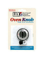 Lux Gas Oven Replacement Knob Universal - Fits Most Gas Ovens Black