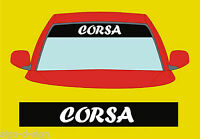 SUNSTRIP TO FIT CORSA DECALS GRAPHICS STICKER choose any 2 colours from list