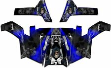 Polaris RZR 800 UTV Graphics Decal Kit Wrap 2011 - 2014 Grim Reaper Revenge Blue