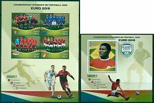 Football Soccer EURO 2016 Portugal Iceland Austria Hungary MNH stamp set 4val+ss