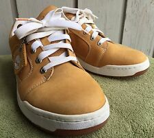 Timberland Mens Shoes 9.5 M Nubuck Leather Fashion Sneakers Casual Wheat brown