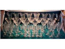 43 RARE CAMBRIDGE GLASS CRYSTAL # 3779 STEMS ROSELYN ETCH 5 SIZES 1949-57