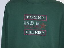 Vintage 90's made in USA Tommy Hilfiger USA Star Sweatshirt XL Color Green
