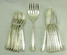 Alfénide/Christofle modèle Turgot, 8 couverts à poisson + fourchette de service.