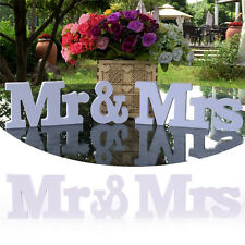 Creative Mr & Mrs Letters Wedding Decoration White Romantic Mariage/Table Decor