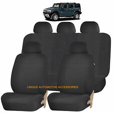 BLACK ELEGANCE AIRBAG COMPATIBLE SEAT COVER SET for HUMMER H1 H2 H3