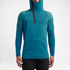 NIKE TECH FLEECE KNIT DYNAMIC REVEAL HOODIE GREEN BLUE SIZE M 805655 301
