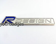 Chrome VOLVO R DESIGN Enamel Car Badge in Blue V70