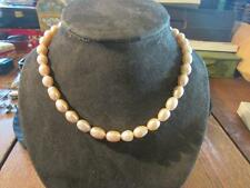 Beautiful Vintage Quality Cultured Pastel Pink Baroque Pearl Necklace