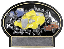 THREE DIMENSIONAL HOT ROD CAR TROPHY CAR SHOW RESIN AWARD FREE LETTERING