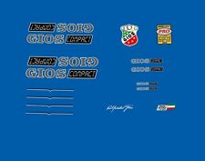 "Gios ""Compact"" Bicycle Frame Stickers, Decals, Transfers  N.60"