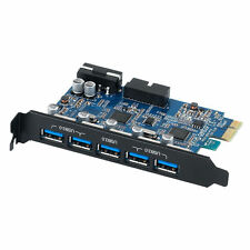 ORICO 5 Port USB 3.0 PCI-E Express Card HUB Controller Adapter Internal 19Pin