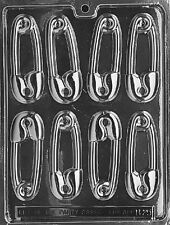 BABY SAFETY PIN PIECES mold Chocolate Candy Soap molds shower favors pins
